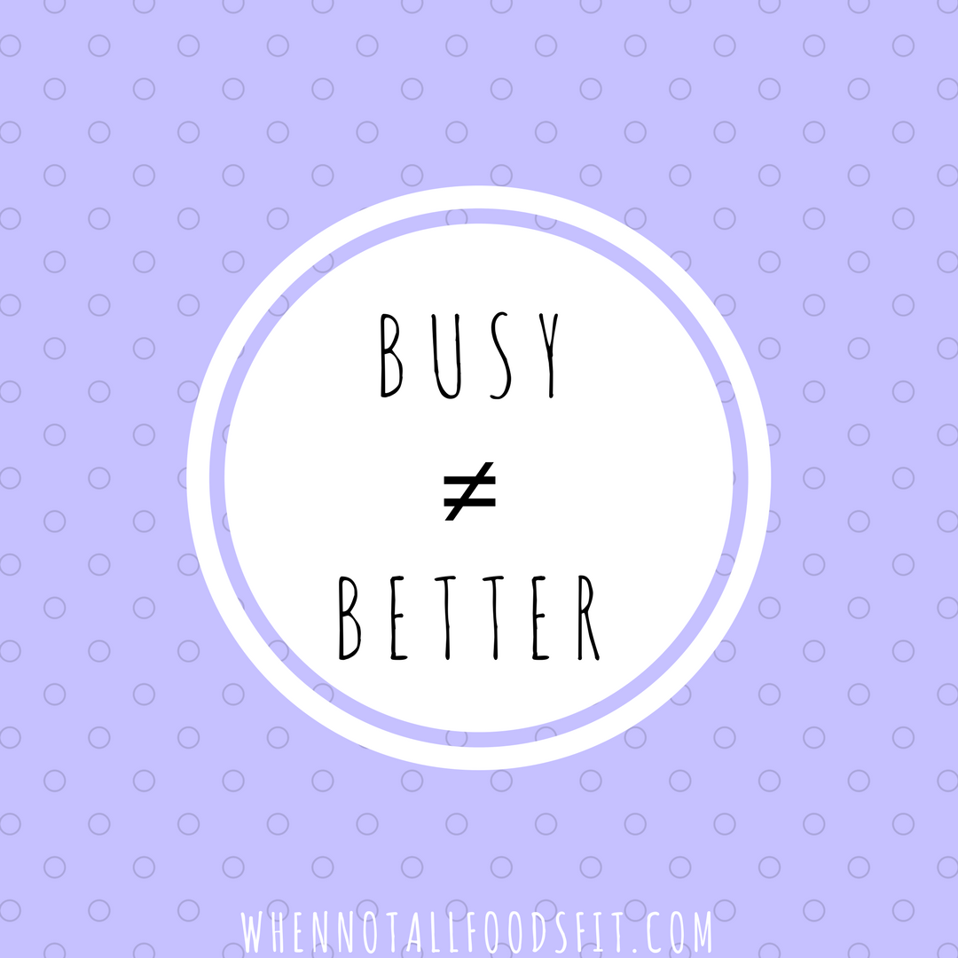 busy is not better