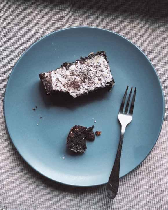 brownie on plate