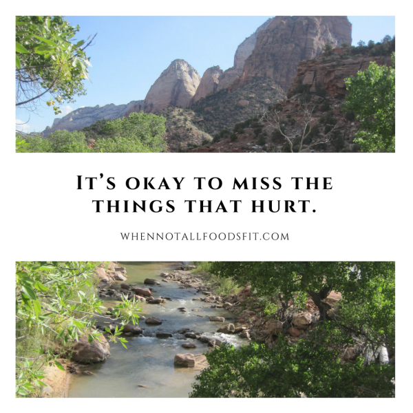 it's okay to miss the things that hurt