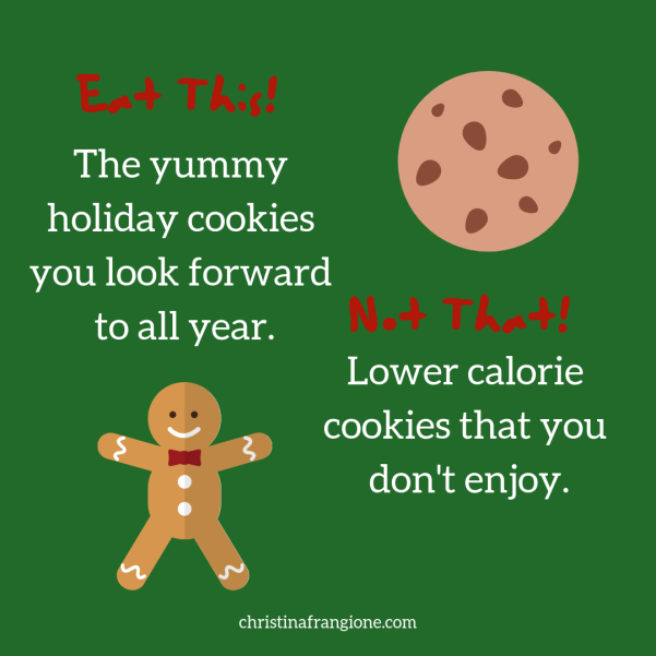 Eat This! Not That! Intuitive Eating Christmas Edition