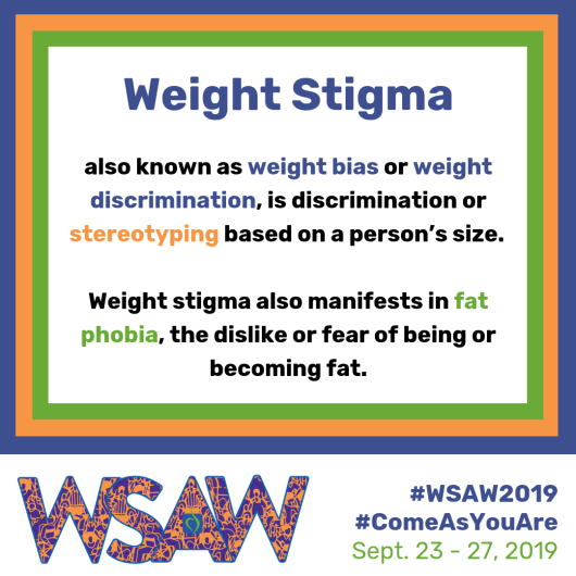 WSAW Shareable Graphics - Weight Stigma Definition