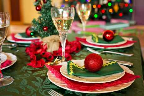 christmas dinner place settings