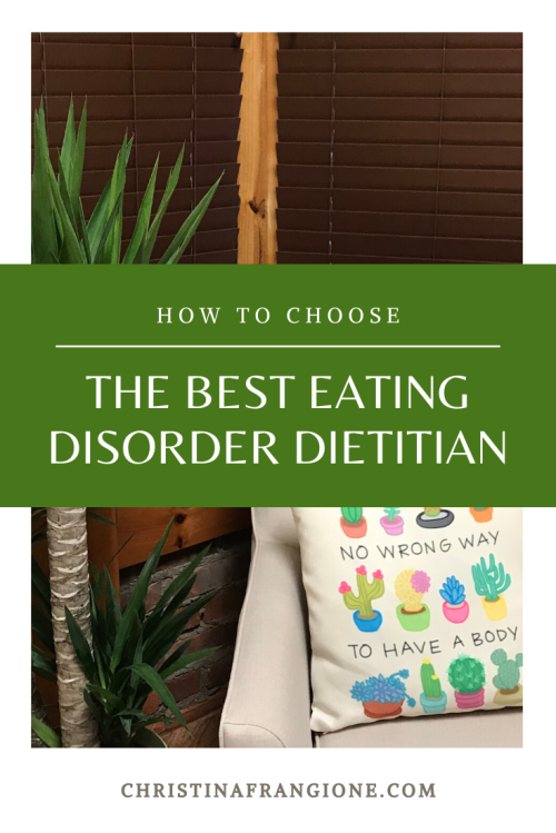 How to choose the best eating disorder dietitian